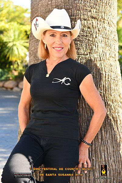 Agnès Gauthier, professeur Country ABCLD Le Barp